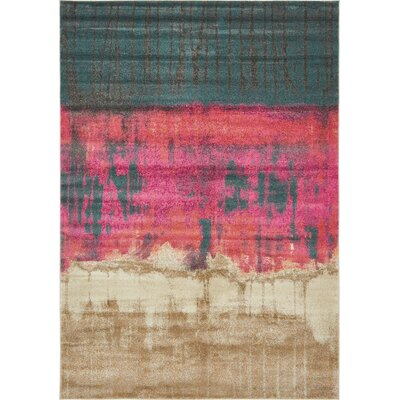 Wrought Studio Wynn Traditional Pink Area Rug Rug Size: Rectangle 7' x 10'