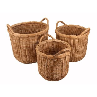 3 Piece Storage Wicker Basket Set