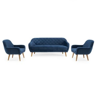 Best Choices Wetherby Diamond 3 Piece Living Room Set by Everly Quinn Reviews (2019) & Buyer's Guide