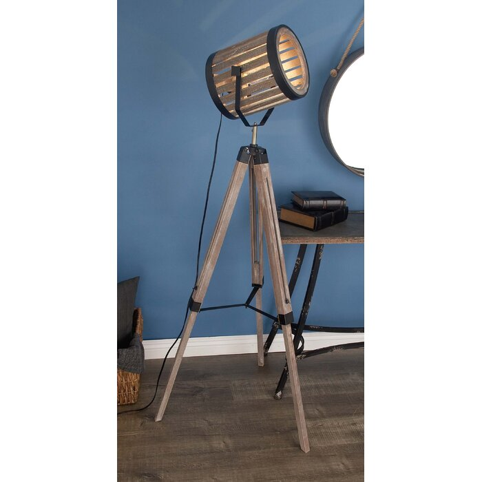 Cole grey wood metal 62 tripod floor lamp reviews wayfair wood metal 62 tripod floor lamp aloadofball Gallery