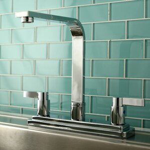 Kingston Brass NuvoFusion Double Handle High Rise Spout Kitchen Faucet