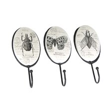 3 Piece Insects Wall Hook Set by Sagebrook Home