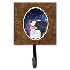 Starry Night Border Collie Leash Holder and Wall Hook by Caroline's Treasures