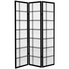 71 x 47.25 Double Cross 3 Panel Room Divider by Oriental Furniture