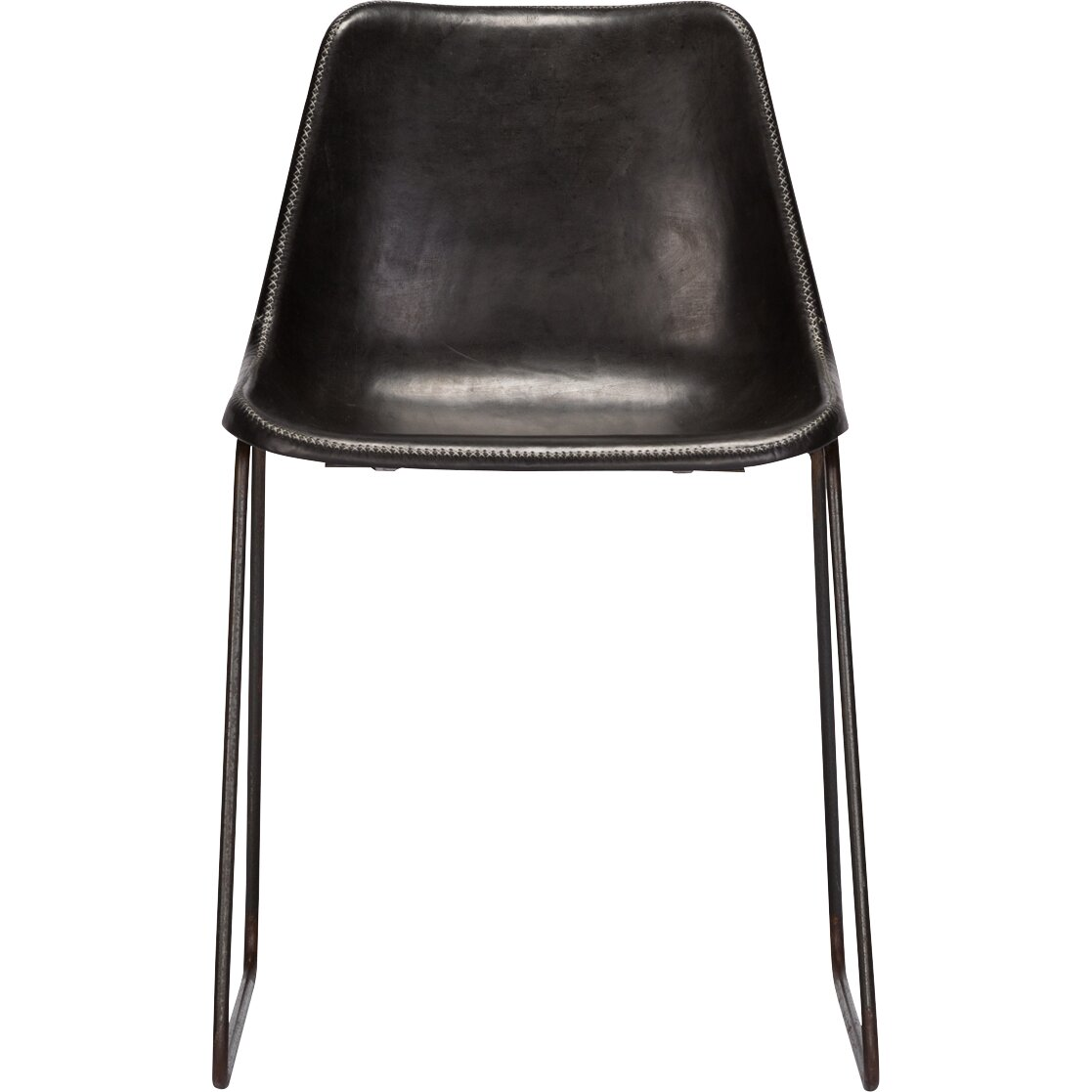 Black upholstered dining chairs - Hudson Genuine Leather Upholstered Dining Chair