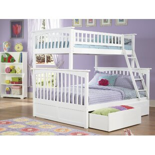 Abel Twin Over Full Standard Bed with Drawers by Harriet Bee