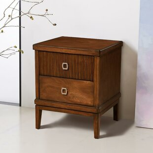 East Harptree Mahogany Wood 2 Drawer Nightstand by Corrigan Studio