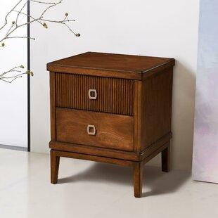 East Harptree Mahogany Wood 2 Drawer Nightstand by Corrigan Studio