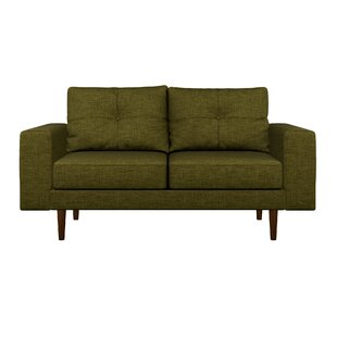 Inexpensive Binns Oxford Weave Loveseat by Corrigan Studio Reviews (2019) & Buyer's Guide