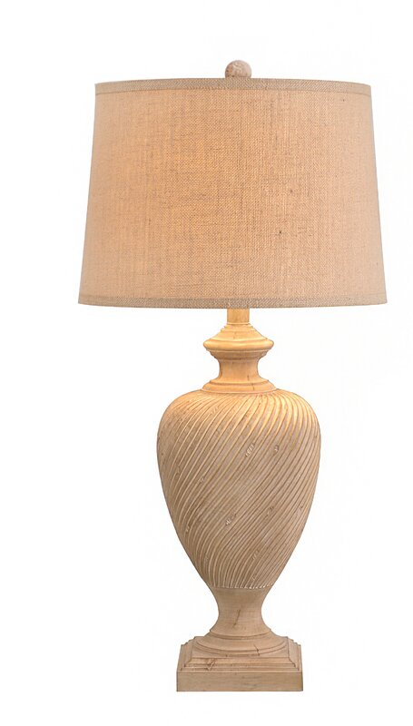 "Wood 35"" Table Lamp"