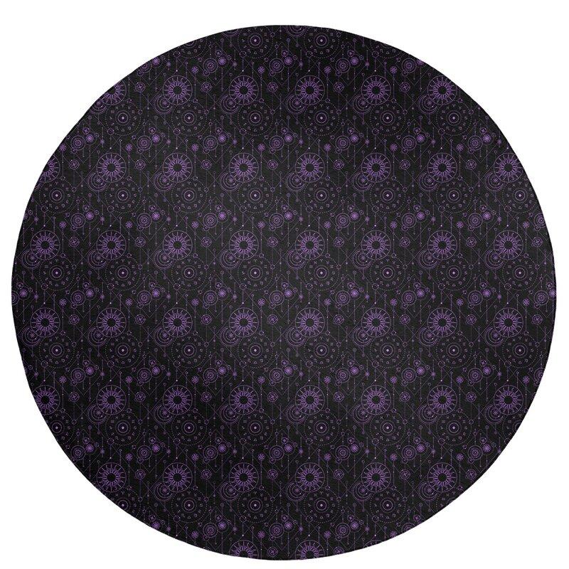 East Urban Home Astrology Black Purple Area Rug Wayfair