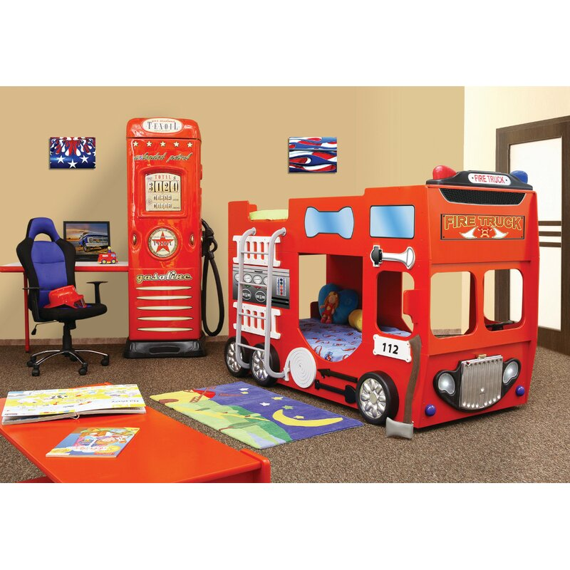 Plastiko Fire Truck Toddler Bunk Bed Wayfair