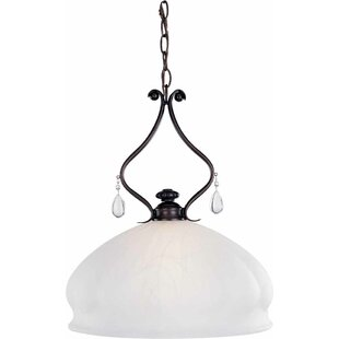Parisian 1-Light Bell Pendant by Volume Lighting