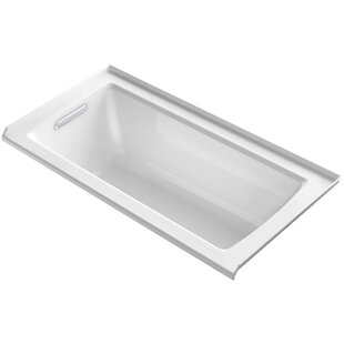 Kohler Archer Alcove Vibracoustic Bath with Tile Flange and Left-Hand Drain