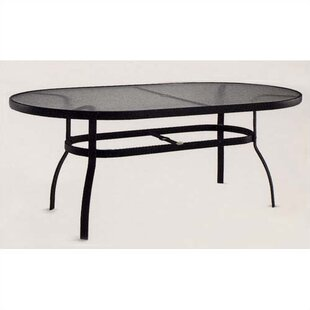 Woodard Deluxe Obscure Glass Dining Table