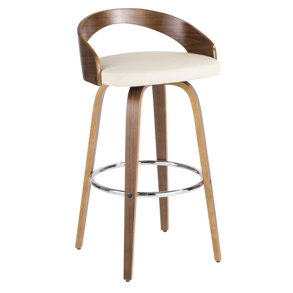 Strange Modern Contemporary Taupe Bar Stool Allmodern Squirreltailoven Fun Painted Chair Ideas Images Squirreltailovenorg