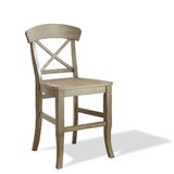 Piedmont X-Back Solid Wood 24 Counter Stool (Set of 2) by Birch Lane™ Heritage