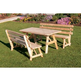 Millwood Pines Hamish 3 Piece Dining Set