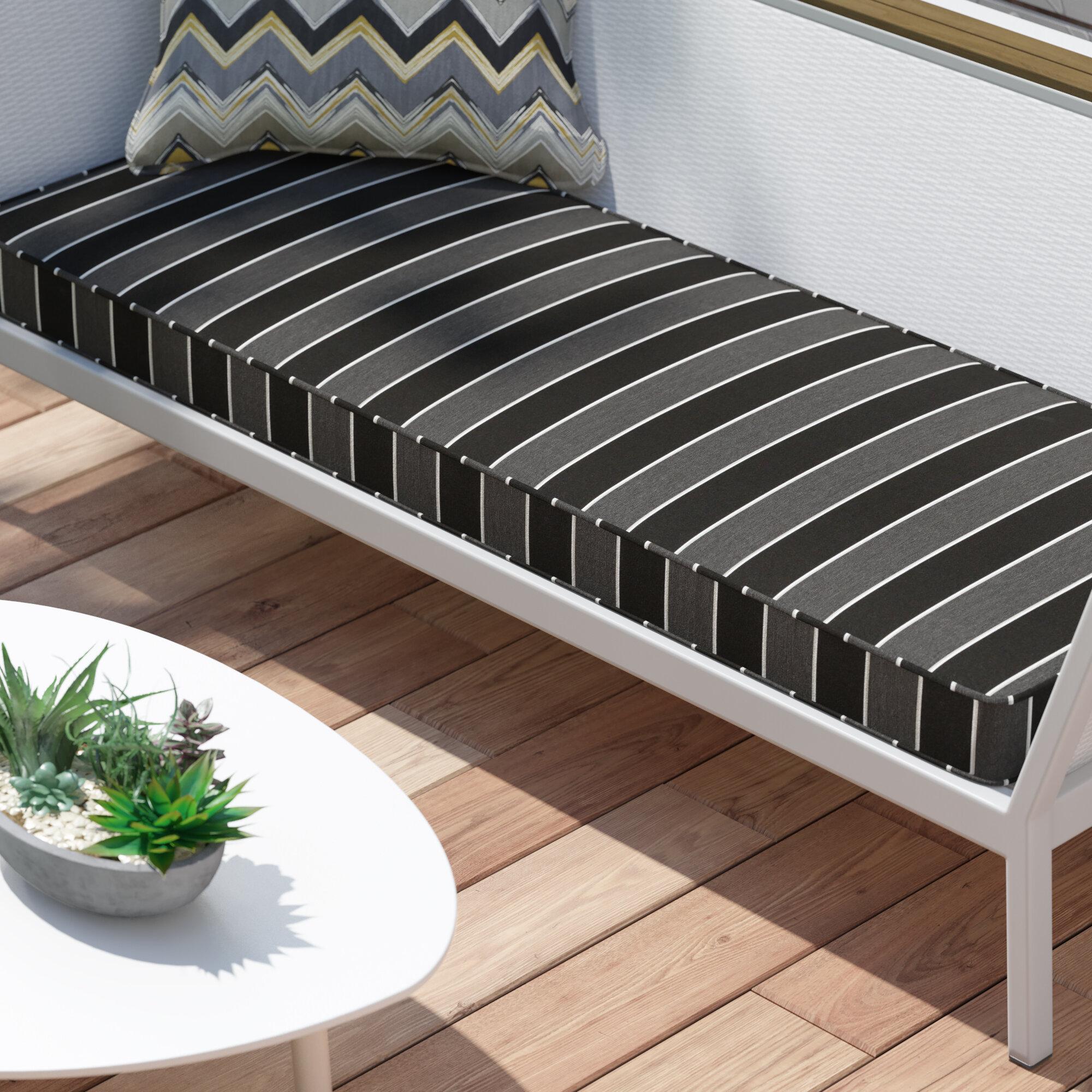Brayden Studio Stripe Indoor Outdoor Sunbrella Bench Cushion Reviews Wayfair