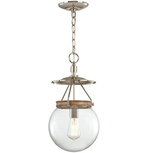 Mabie 1-Light Pendant by Union Rustic