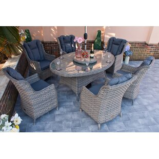 Graciela 6 Seater Dining Set With Cushions By Sol 72 Outdoor