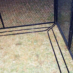 Single Yard Kennel Digging Prevention Bar