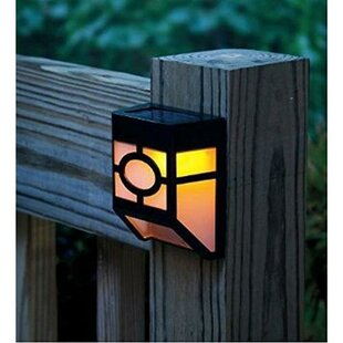 Solar Powered 1-Light Fence Post Cap (Set of 4) By Myfuncorp Outdoor Lighting