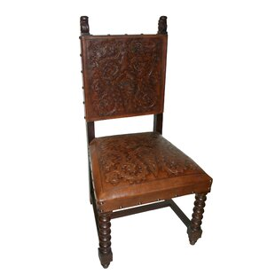 Coombs Genuine Leather Upholstered Dining Chair (Set of 2)