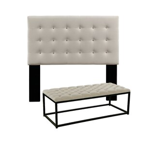 Almendarez Upholstered Panel Headboard and Bench