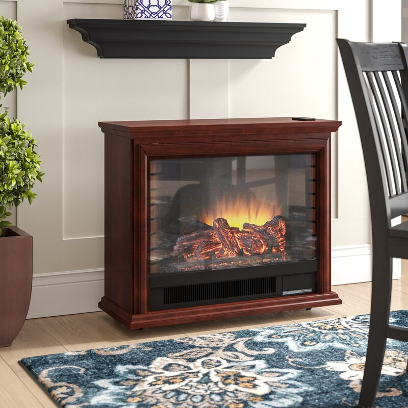 Charlton Home Mcgregor Mobile Electric Fireplace Reviews Wayfair