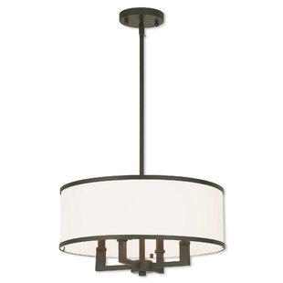 Modern contemporary chandeliers bisbee 4 light drum chandelier aloadofball Image collections