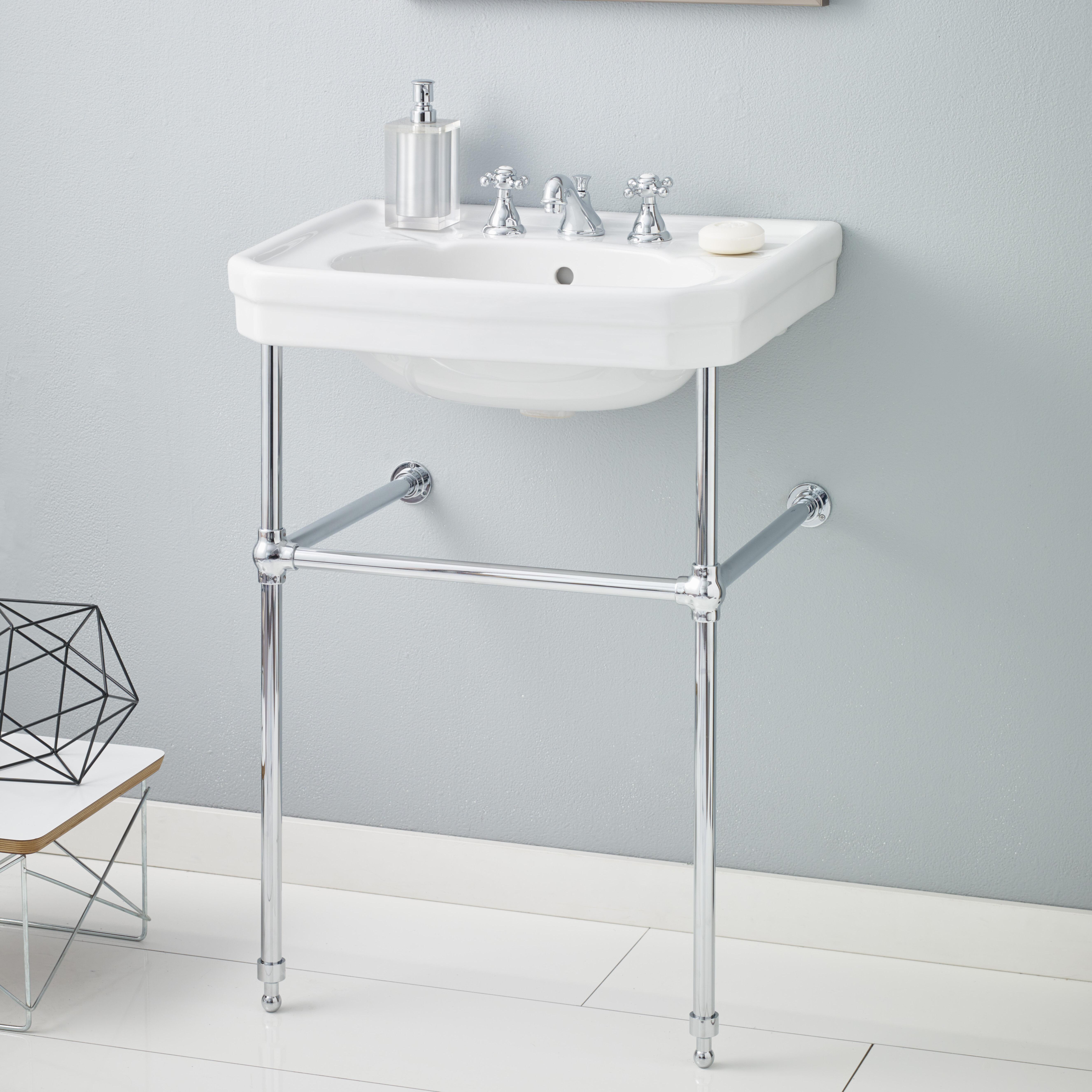 Cheviotproducts Mayfair Metal 25 Console Bathroom Sink With Overflow Reviews Wayfair