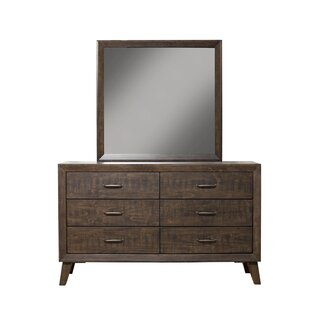 Amelia 6 Drawer Double Dresser with Mirror
