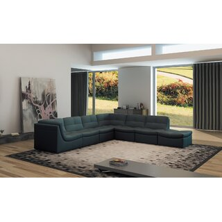 Weisman Right Hand Facing Modular Sectional with Ottoman by Brayden Studio SKU:AB496223 Guide