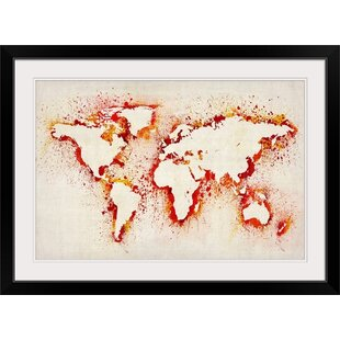 Wall stencil pattern wayfair paint stencil map of the world by michael tompsett graphic art print in grey gumiabroncs Images