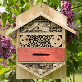 Valerian Insect Hotel Hanging Bumblebee And Ladybird House Image