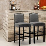 Winsted Upholstered 28.3 Bar Stool (Set of 2) by Ophelia & Co.