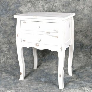 Ophelia & Co. Rowdy Wooden 2 Drawer Night Stand