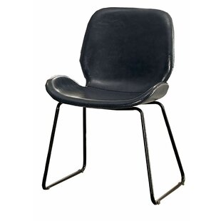 Carnesville Leatherette Side Chair by Williston Forge