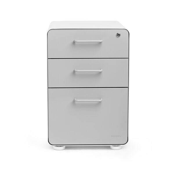 Poppin 3 Drawer File Cabinet U0026 Reviews | Wayfair