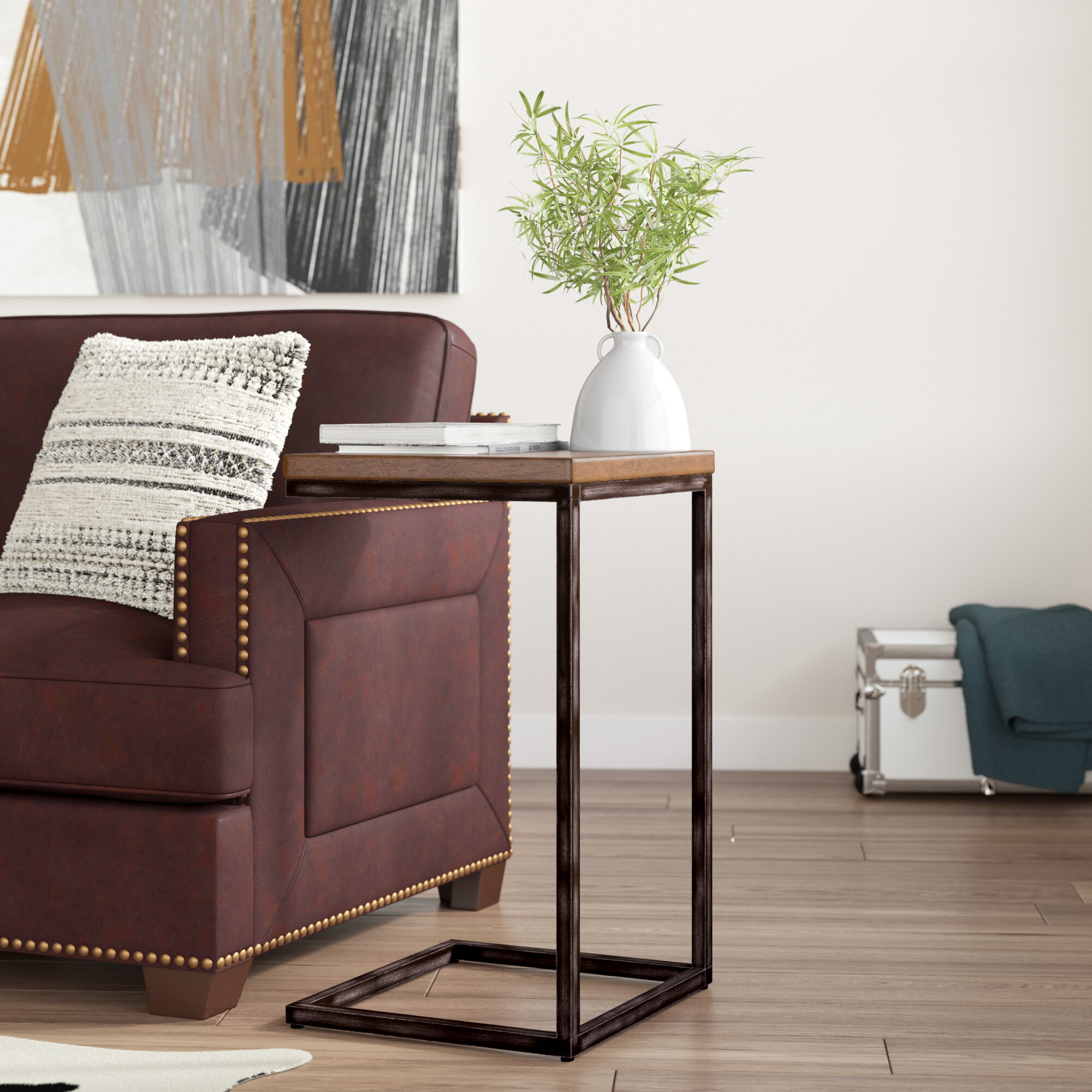 Williston Forge Wellman Chairside End Table Reviews Wayfair