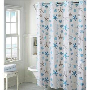 Lovely Seashell Shower Curtain