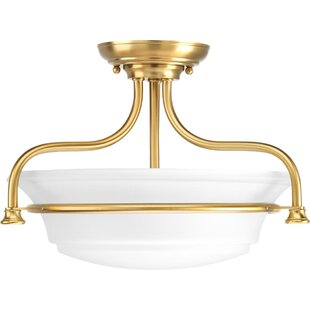 Perot 2-Light Semi Flush Mount by Charlton Home