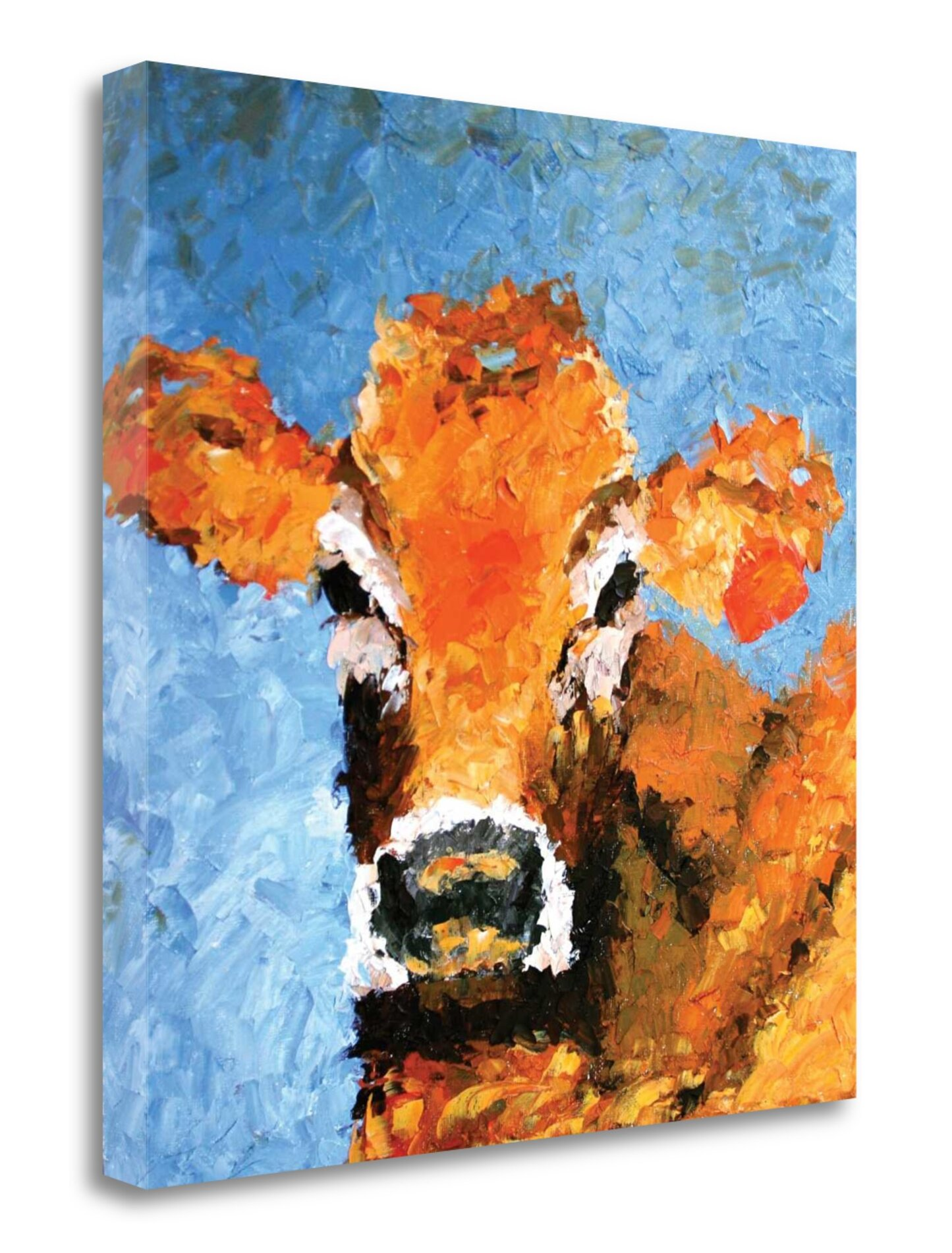 Gracie Oaks Cow Print On Wrapped Canvas Wayfair