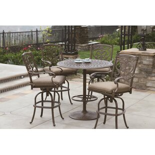 Astoria Grand Berenice 5 Piece Bar Table Set with Cushions