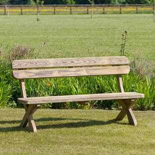 Lanesborough Wooden Bench By Sol 72 Outdoor