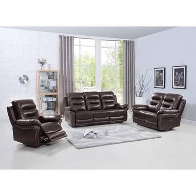 Red Barrel Studio Manan 3 Piece Reclining Living Room Set Reviews Wayfair