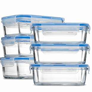 Lana Glass Meal Prep 28 Oz. Food Storage Container (Set of 6)