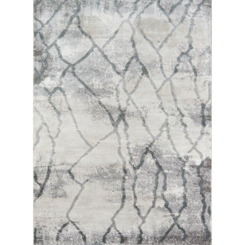 Northwick Abstract Modern Gray Area Rug
