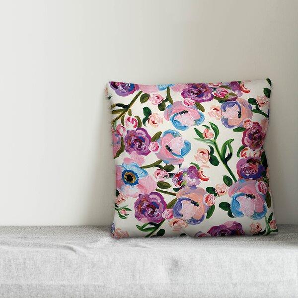 Lavender Floral Decorative Pillow Wayfair